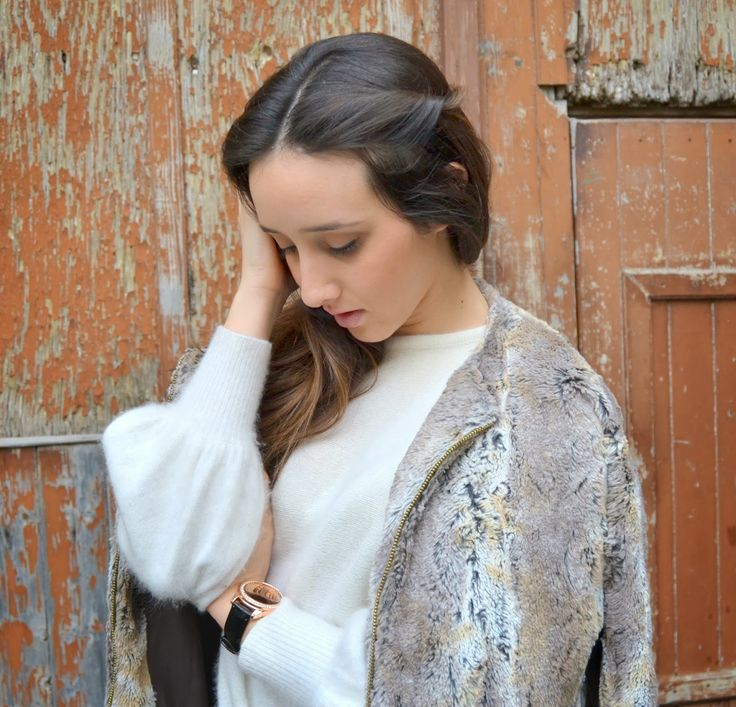 Winter Look || #outfit #winterlook #ecofur #mango #whitesweater #italianfashionblogger