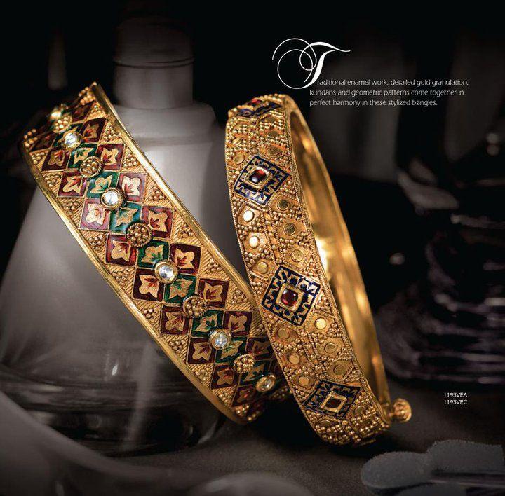 Tanishq Bangles Collection : meenakari