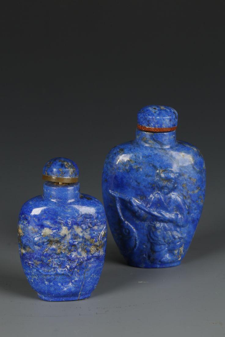 Lapis lazuli house - Lapis Snuff Bottle