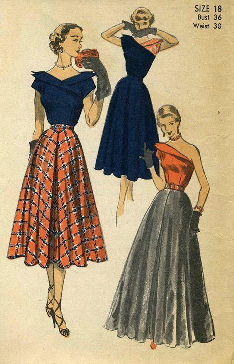 RARE Vintage 1940s Advance 5625 One Shoulder Wing Más