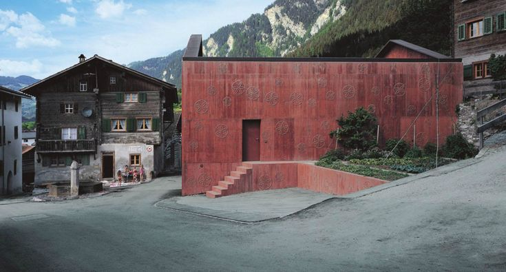 Valerio Olgiati - Atelier Bardill (house for a musician), Scharans 2007. As previous stated, posted many times before (descriptions here, here), but always nice to come across different photos. Scans...