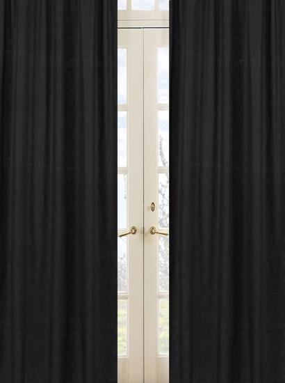 Minky Dot Black Window Panels   Sweet JoJo Designs   Black Curtains   Http:/