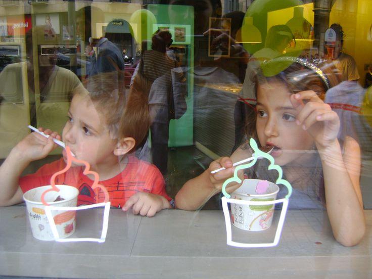 Nos gustan los helados de Tutti Frutti. ¡Tienes que probarlos!