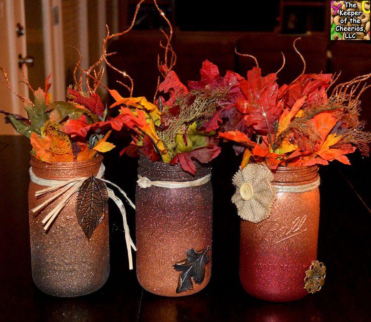 Best fall mason jars ideas on pinterest shabby chic