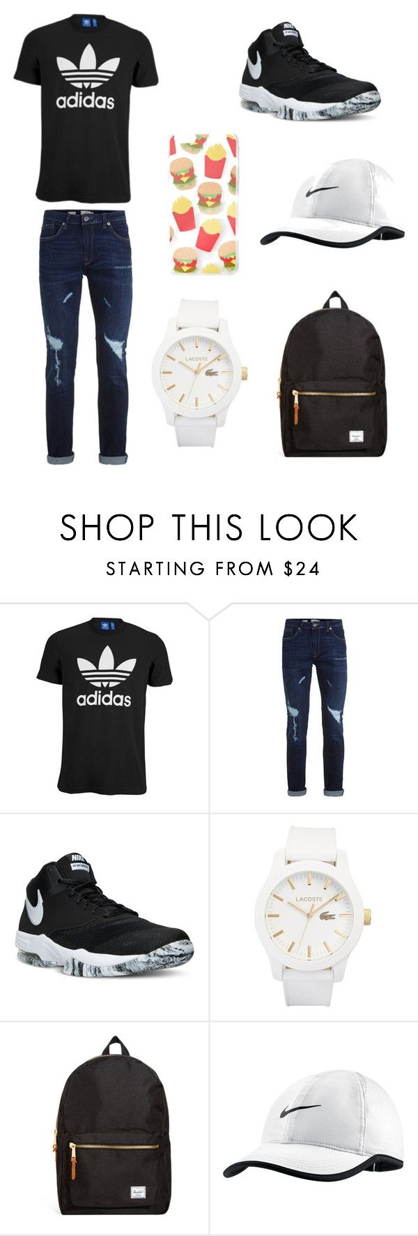"""Youth"" by noahfennce on Polyvore featuring adidas Originals, Topman, NIKE, Lacoste, Herschel, Forever 21, men's fashion and menswear"