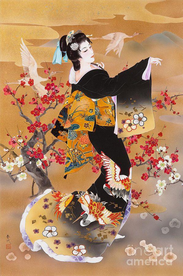 Tsuru Kame Digital Art by Haruyo Morita