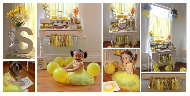 1st Birthday, You are my sunshine theme!!!