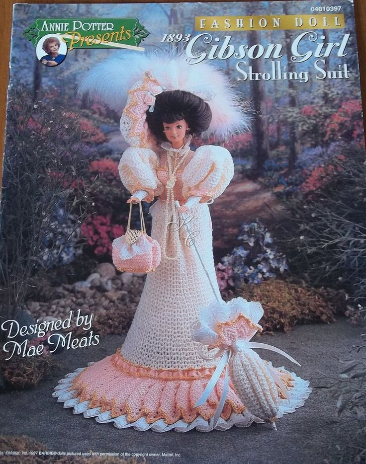 Image detail for -Annies Attic Fashion Doll Gibson Girl Crochet by ...