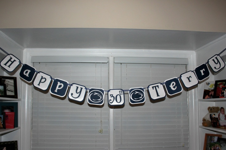clothing men Penn State Nittany Lions Happy Birthday Banner by DesignsByBS