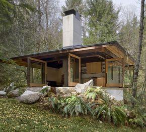 Tye River Cabin in Washington by Olson Kundig Architects; photo by Tim Bies