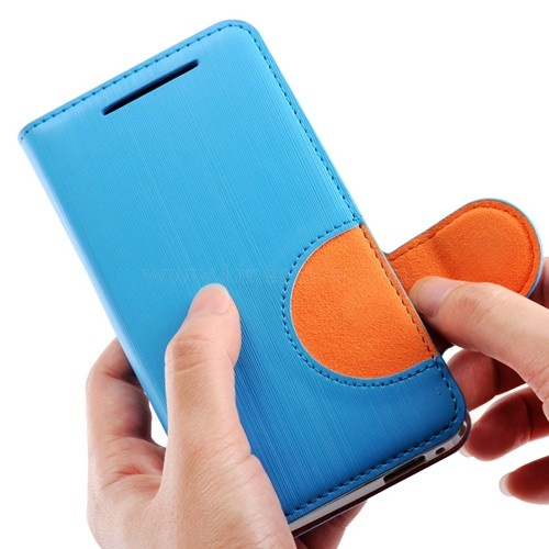 Baseus Rainbow Leather Flip Cover Case for HTC One M7