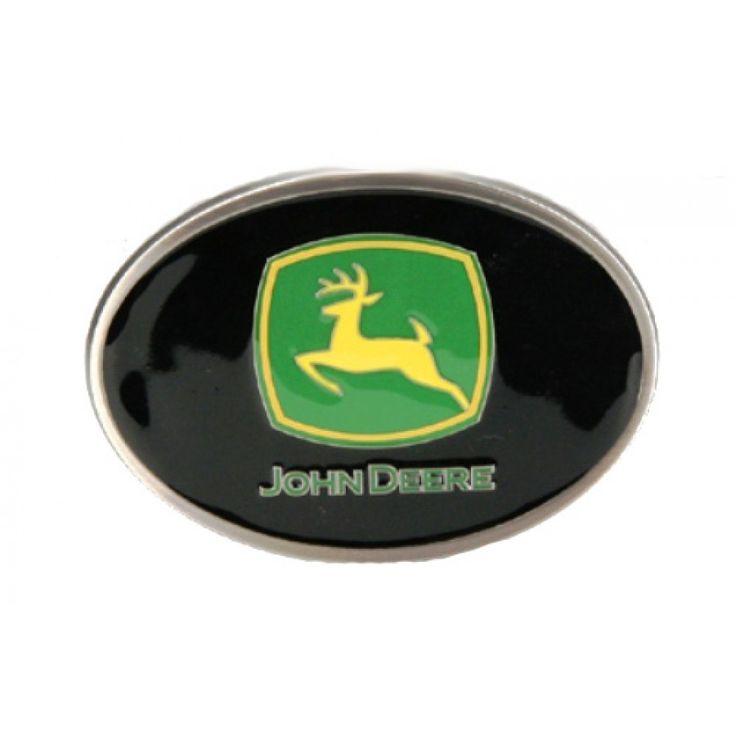 John Deere Black Logo Enamel Belt Buckle | RunGreen.com