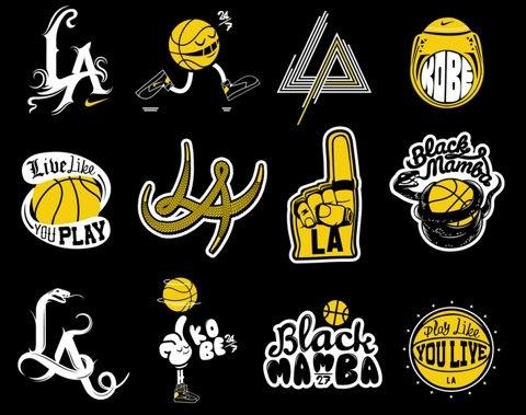 LA, Lakers, Logos