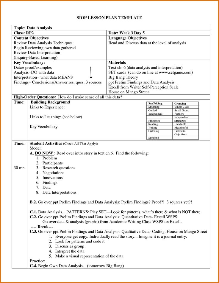 Siop Lesson Plan Template By Hbakk15 Pictures Lesson
