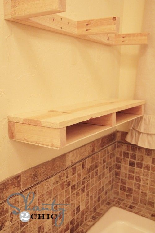 DIY Floating Shelves How To - I always have trouble explaining what I mean/want to the mister.  This helps!