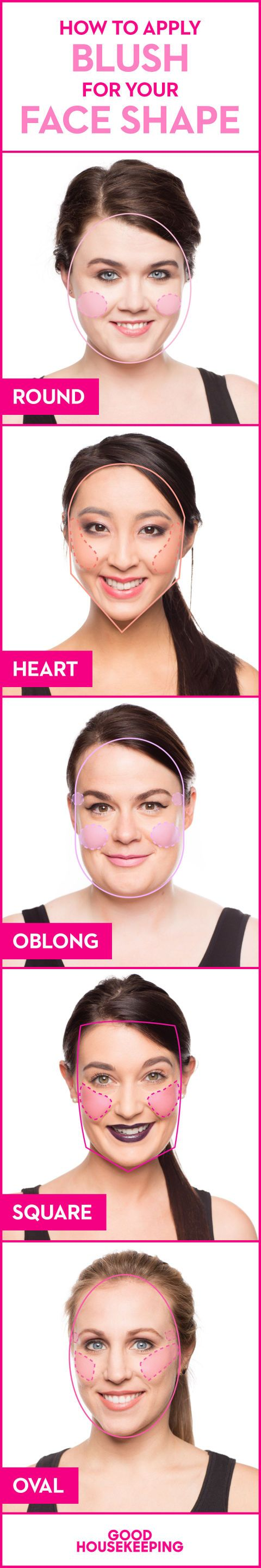 Of all the beauty products out there, blush is one of the most effective at changing your whole look — just a pinch can make you look healthier, dewier, and more youthful. At the same time, it's one of the most confusing for many makeup users. Here's how to make this super flattering, and surprisingly versatile, product work for your face shape, skin tone, and lifestyle.