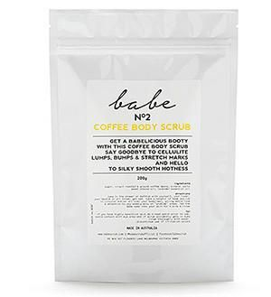 Australian made coffee body scrub at ecoHaven  Natural, cruelty free body exfoliant