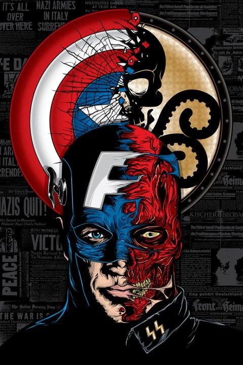Cap-Skull Marvel Art. Plateia.co #ValoralaDiversidad #CreatividadsinLimites #PlateiaColombia #comics
