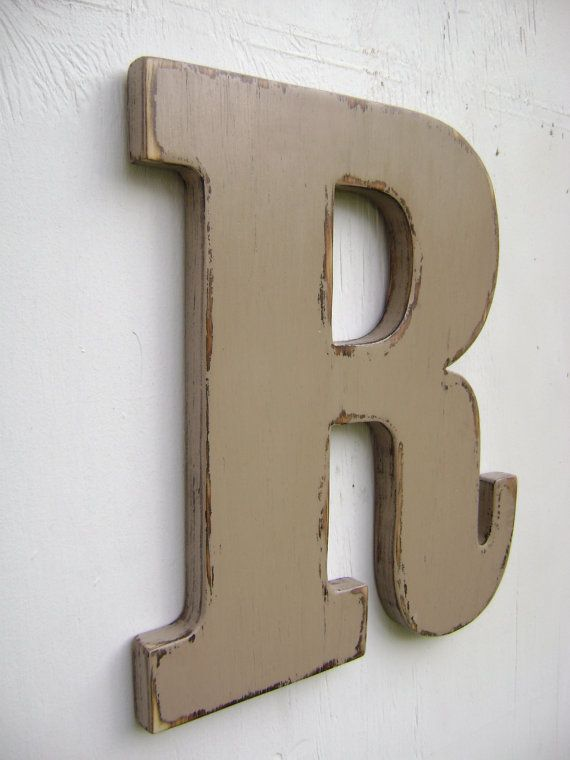 personalized initals big letters hanging decor rustic. Black Bedroom Furniture Sets. Home Design Ideas
