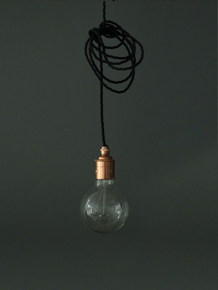 Twisted Flex & Copper Pendant Light by #coxandcox - a few of these grouped together with different filament bulbs would make pretty bedside lights