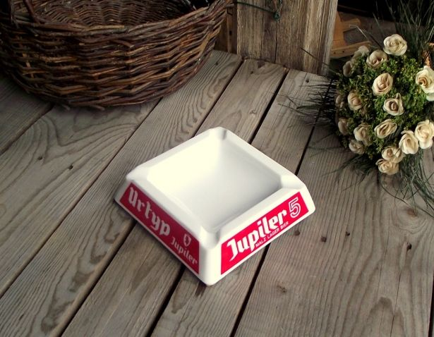 Jupiler Beer Milkglass Opalex Bistro Ashtray - French Kitchen Vintage by My French Bric-a-Brac on Gourmly