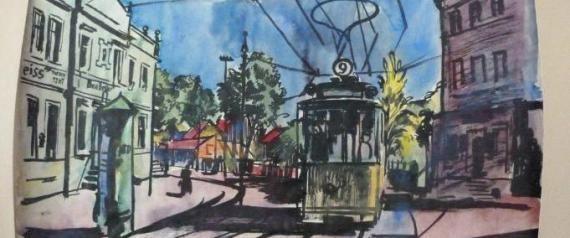 Bernhard Kretschmar  Amsterdam door de ogen van deze joodse kunstschilder. Het werk werd toegevoegd aan de collectie van Himmler. Door roof.