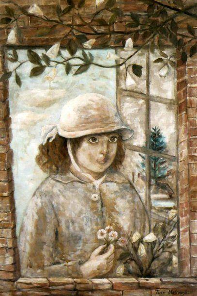 Tadeusz Makowski (Polish 1882 – 1932) | Flowery Window