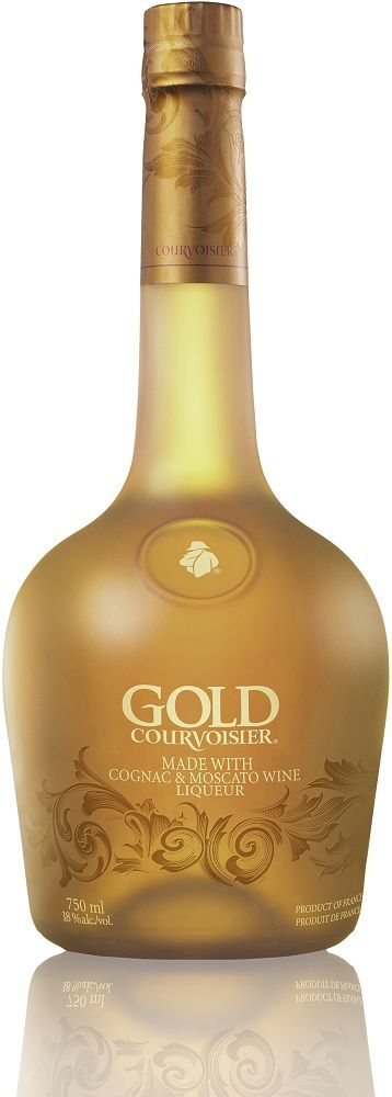 Courvoisier Gold Cognac Liqueur -  El coñac es un tipo de brandy que se elabora a partir del vino de uva blanca de las cepas cultivadas en los alrededores de la ciudad de Cognac, zona relativamente cálida del departamento francés de Charente.