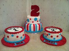 thing 1 and thing 2 cake - Google Search