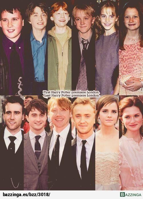 Los actores de Harry Potter en el primer y último pre-estreno de la saga, como pasa el tiempo...