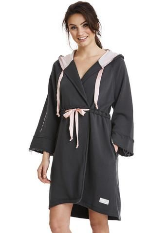 Odd Molly Badekåbe mørkegrå 117M-997 Mind Rinse Bathrobe - asphalt – Acorns