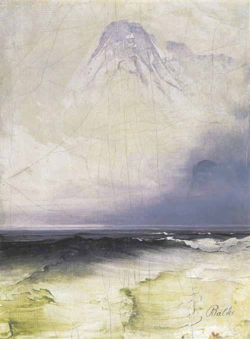 Peder Balke (Norwegian, 1804-1887) Hav og tåke (Sea and Fog), n.d. Oil painting