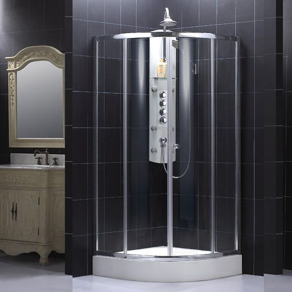 Dreamline Shower Enclosure - Sector 30 3/4 x 30 3/4 x 72 7/8 Shower Enclosure SHEN‐7031316‐01 Chrome