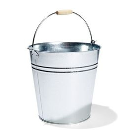 12L Galvanised Metal Bucket