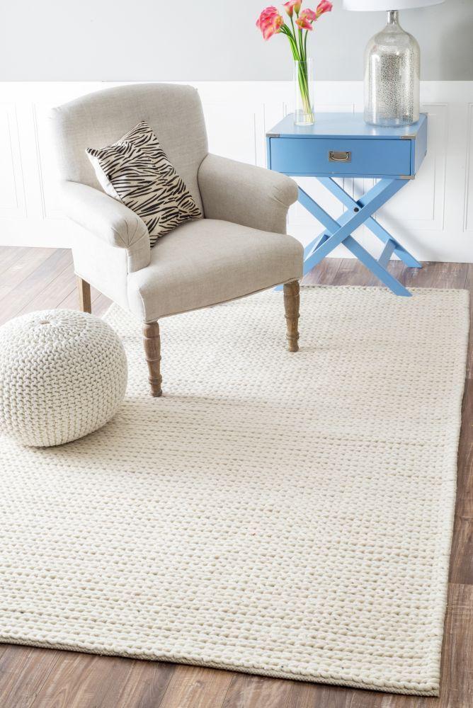 TexturesB01 Braided Rug Bedroom carpet, Navy rug and