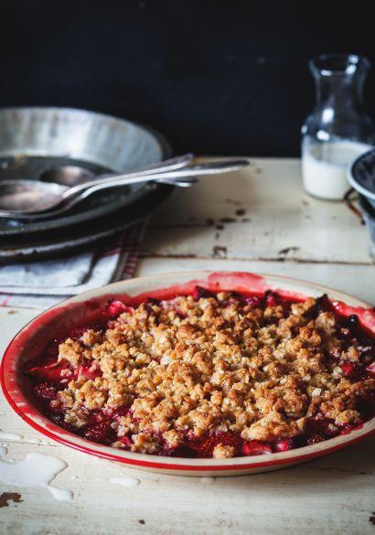 Crumble aux fraises rapide - Recette | Trois fois par jour