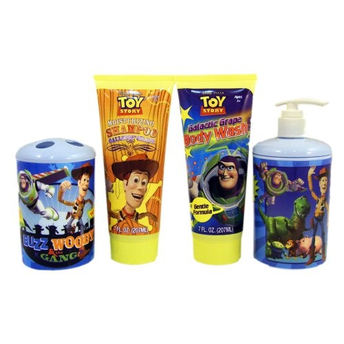 16 99  Toy Story 3 Deluxe Bath Set  Toothbrush Holder  Soap Lotion. 131 best Toy Story images on Pinterest