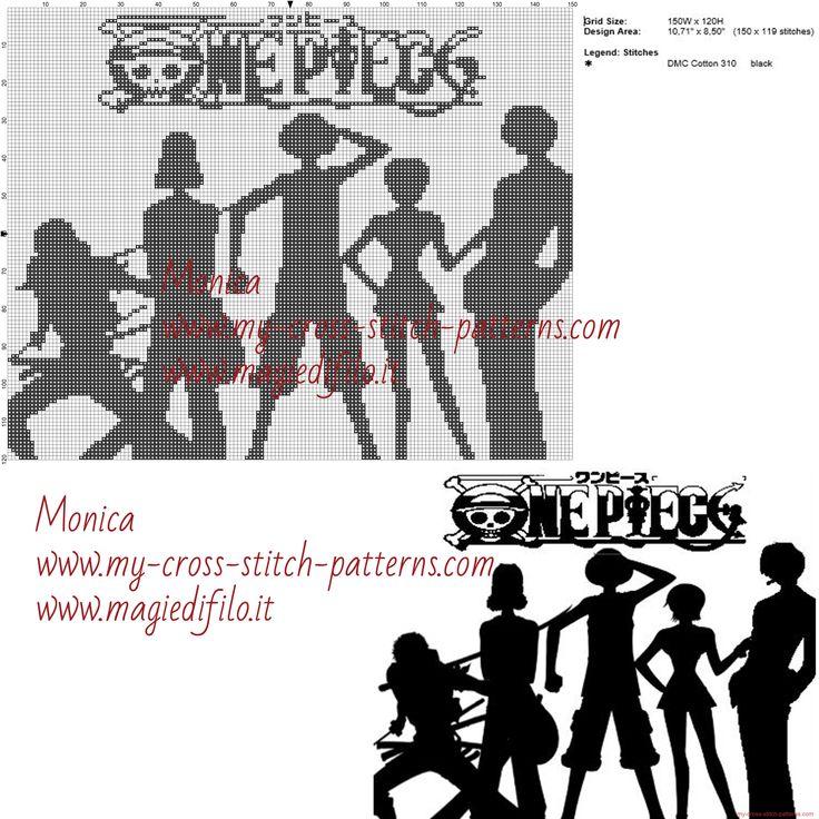 Shadow of One Piece cross stitch pattern