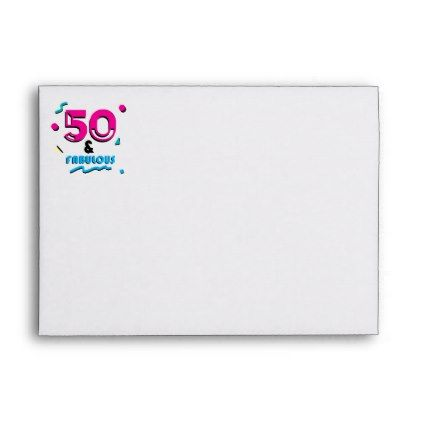 50 & Fabulous Birthday Return Address Printed Envelope - return address gifts label labels cards diy cyo