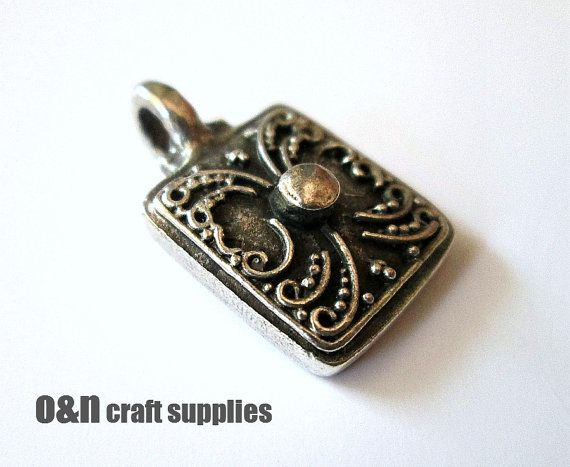 Antique metal pendant / charm small bohemian pendant 2 by OandN #diyjewelry #pendant #jewelrysupplies #jewelrymaking