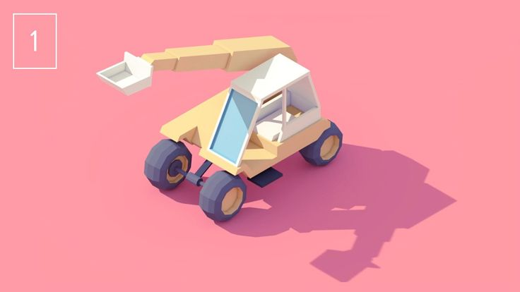 Vehicle #1 - Construction Machine. First video of my series of vehicles animations!  > C4D (+Vray) & After effects  Thanks Lullatone for the...