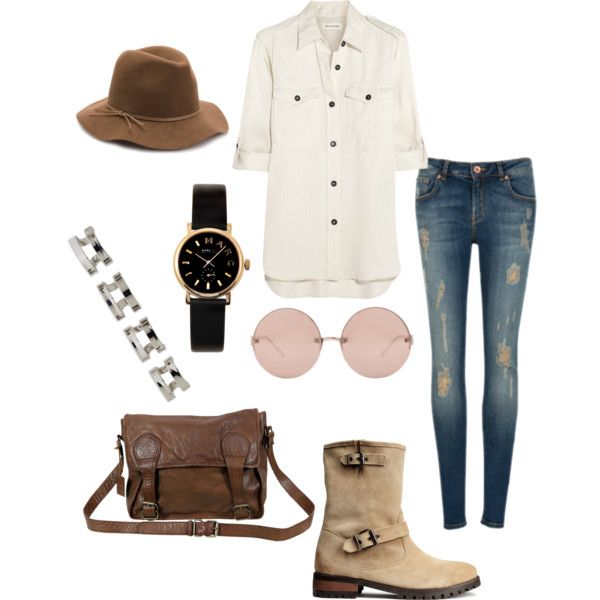 A fashion look from February 2015 featuring Étoile Isabel Marant tops, Ted Baker jeans and H&M boots. Browse and shop related looks.