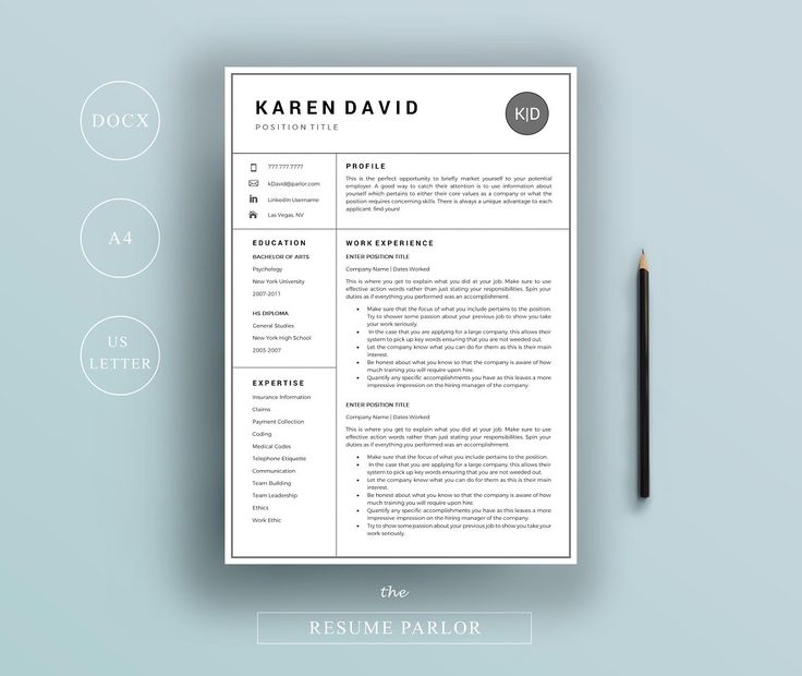 40 best RESUMES images on Pinterest Resume, Cv template and - good fonts for resumes