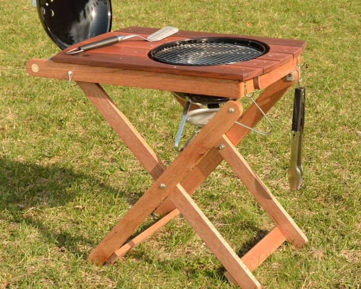 """Ardent Goods Short Order Cook prep and grilling table for the Weber Smokey Joe 14"""""""