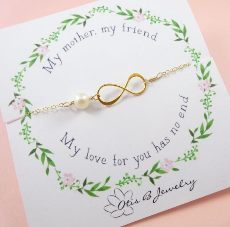 Mother of the bride or groom gift, message card with infinity necklace, mother of the groom gift,  Mother's jewelry, mother in law gift