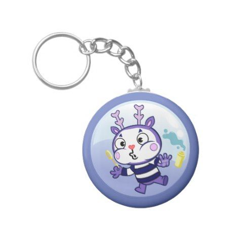 Mime in a Bubble Keychain - tap, personalize, buy right now!