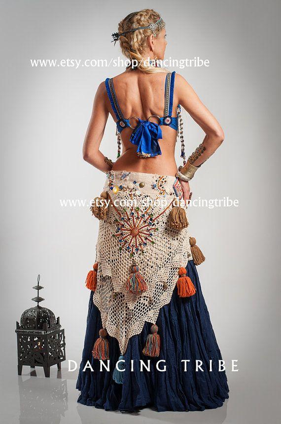 CUSTOM ORDER for DEBORAH - Tribal Belly Dance Bra Tribal Belly Dance Top Tribal Fusion Bra with Fragrant Clove Beads