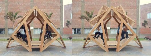 Pempén: módulo transformable para la selva por estudiantes peruanos,Cortesía de Equipo Pempén