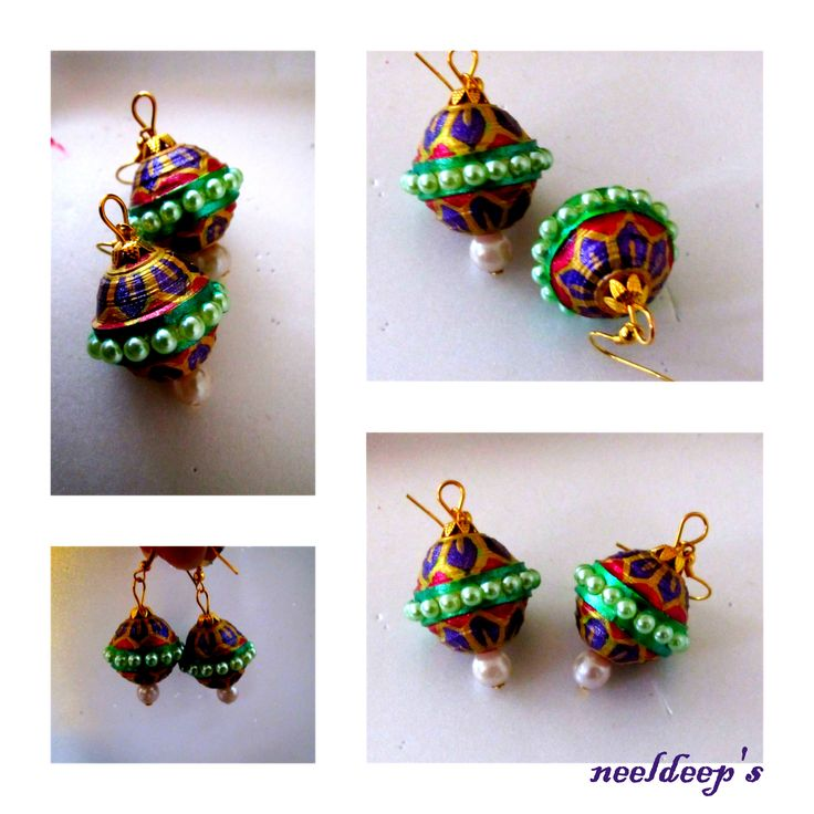 Lattoo shaped meenakari earings. for more : https://www.facebook.com/neeldeeprangoli