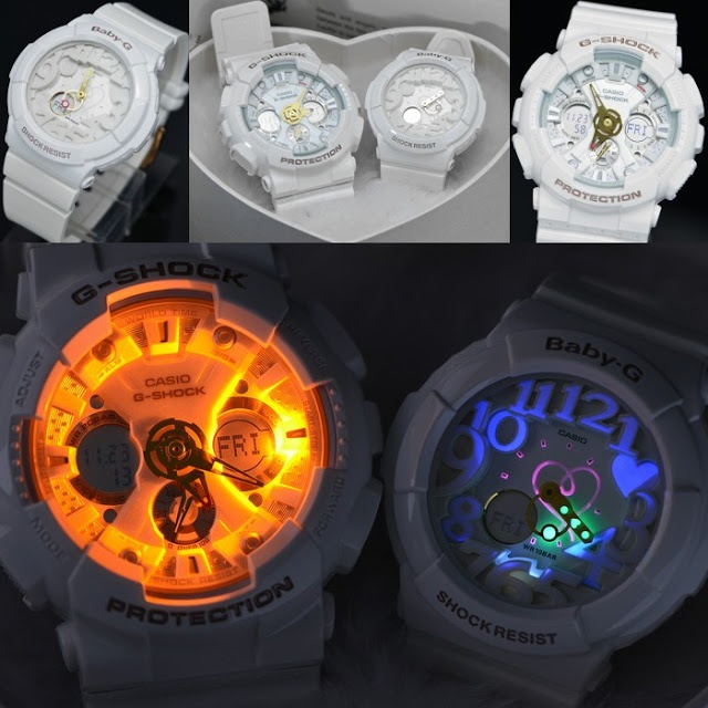 """RunPlusDesign: mobile lifestyle, running and design: Stuff I love: clear white G-Shock """"Lovers Collection 2012"""""""